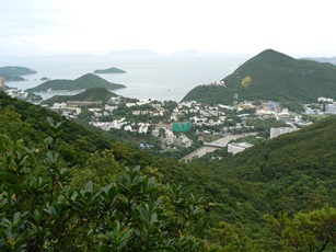Black's Link, Hong Kong Island, looking towards Ocean Park and the South China Sea